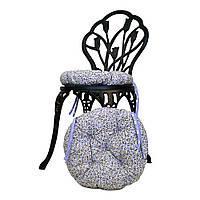 Круглая подушка на стул Лаванда цветы