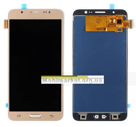 Модуль (сенсор+дисплей) для Samsung J710F, J710FN, J710H, J710M  (2016) TFT З РЕГУЛЮВАННЯМ ЯСКРАВОСТІ золотий, фото 2