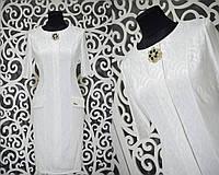 Шикарное женское платье с набивным рисунком и брошью ткань *габардин* 50, 52, 54 размер батал