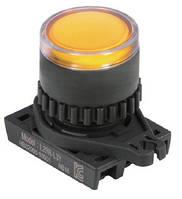 Кнопка управления нажимная с возвратом с подсветкой
