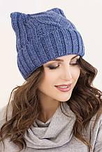 Женская шапка ушки «Снежана»