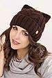 Женская шапка ушки «Снежана», фото 2