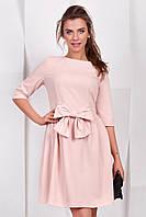 Нарядное коктейльное платье с бантом Розовое