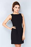 Элегантное базовое женское платье мини без рукавов Черное