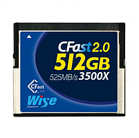 Карта памяти Wise CFast 2.0 Card 3400X blue 512 GB