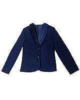 Пиджак с бантом на спине из атласа синий 116