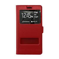 Чехол (книжка) с окошком для HTC New One 2 / M8 красный