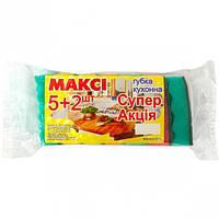"""Губка для мытья посуды """"Макси"""" №5+2"""