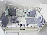 Детское постельное белье. Комплект в детскую кроватку.