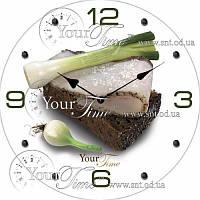 """Часы настенные стеклянные """" Кухня"""" 28 см Закусочные SNT 01-124"""
