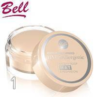Bell HypoAllergenic - Тени для век Waterproof MAT водостойкие Тон 01 беж-абрикос матовые