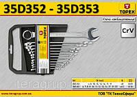 Набор ключей комбинированных 6-19мм, 8шт,  TOPEX 35D352