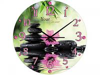 """Часы настенные стеклянные """" Кухня"""" 28 см Цветочная гармония SNT 01-153"""