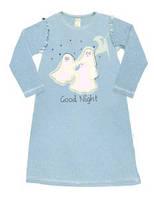 Ночная рубашка цвет голубой рисунок