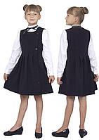 Сарафан школьный для девочки М-1096 рост 110-164 черный, синий, зеленый,бордовый, фото 1