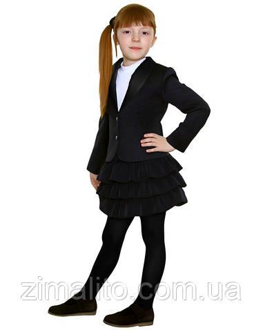Пиджак с бантом на спине жаккарда черный