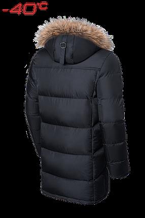 Мужская удлиненная черная зимняя куртка Braggart (р. 46-56) арт. 3226, фото 2