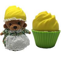 """Мягкая игрушка серии """"Ароматные капкейки"""" - МИЛЫЕ МЕДВЕЖАТА (Лимонный тарт, с ароматом лимона)"""