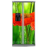 Виниловые наклейки на холодильник типа Side-by-side Маки