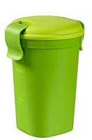 Большая зеленая кружка с крышкой на 600 мл LUNCH & GO Curver 224307