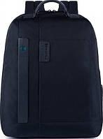 Крепкий мужской рюкзак из текстиля на 24 л. Piquadro PULSE/Bk.Blue, CA3349P16_BLU2 темно-синий
