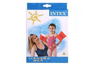 Надувные нарукавники для детей оранжевого цвета, Intex, фото 3