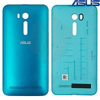 Задняя панель корпуса (крышка аккумулятора) для Asus ZenFone Go (ZB551KL), голубая, оригинал