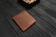 Мужской кожаный бумажник ручной работы VOILE vl-mw1-lbrn-brn, фото 2