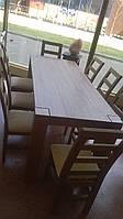 Дубовый стол обеденный и стулья