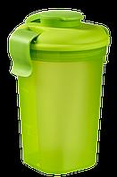 Большая прозрачно/зеленая кружка с крышкой на 750 мл LUNCH & GO Curver 224300
