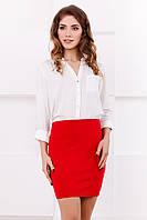 Женская классическая красная мини-юбка