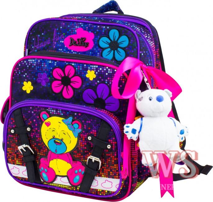476190c369f7 Рюкзак Delune 55-11 ортопедический школьный для 1-4 классов для девочек на  три