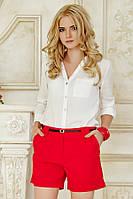 Классические женские красные шорты короткие