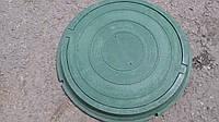 Люк круглый, в зеленом цвете нагрузка до 0,8 т.