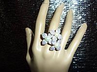 Роскошное кольцо с натуральным белым жемчугом