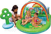 Intex  57421 Надувной бассейн-игра– «Лужайка»(155х130х85см.)