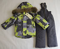 Зимний термокомбинезон для мальчика 2-5 лет