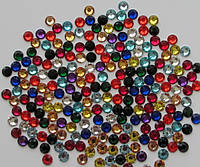 Стразы цветные Mix.Размер ss6(2мм).Цена за 200шт