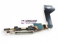 Шлейф для iPhone 4 с разъмом зарядки и микрофоном белый