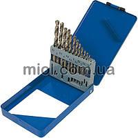 Набор сверл по металлу Р6М5 белых, 19шт, 1,0-10,0мм (металл. коробка)