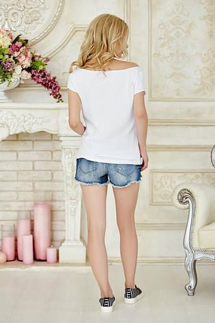 Женская летняя белая фуболка с принтом Hello Summer, фото 2