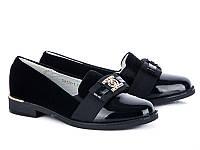 Красивые туфли на девочек на осень 2017 оптом от производителя Леопард GB116-1 (8 пар, 32-37)