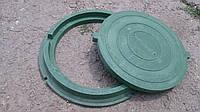 Люк канализационный легкий полимеркомпозитный класса А30, в зеленом цвете  с доставкой в Запорожье.