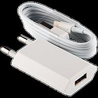 Зарядное устройство IPHONE USB 5V 1A + кабель USB - Lighting Белый /ОЕМ ТМ Logicpower