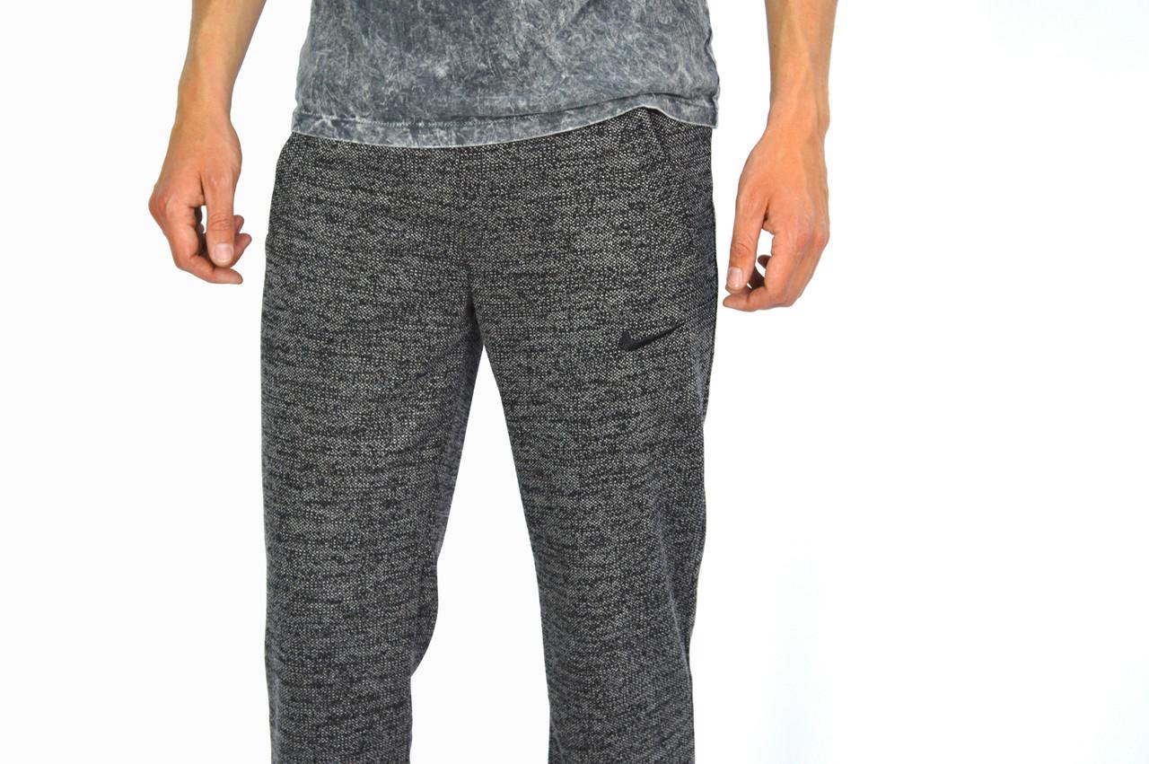 Серо-черные мужские спортивные трикотажные штаны NIKE