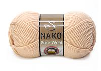 Nako Pure Wool  (100% ШЕРСТЬ, 220 М) Палитра цветов по ссылке в описании