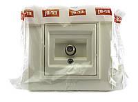 ТВ розетка с размагничивающим элементом концевая EL-Bi ZENA Кремовый