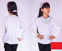 Школьная блуза Маша(горошек) д/р