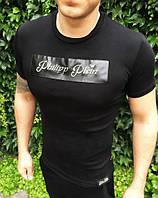 Мужская футболка Philipp Plein D1896 черная