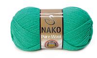 Nako Pure Wool смарагдовий № 1130